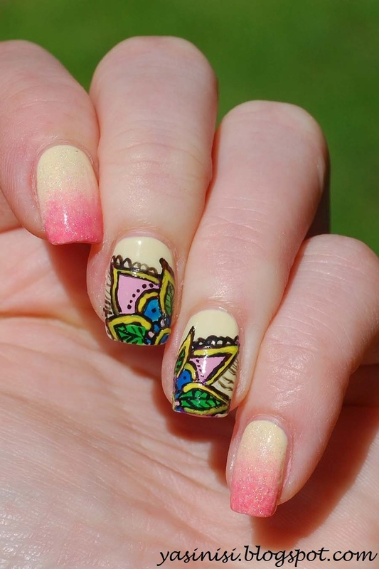 Inspired by Tartofraises nail art by Yasinisi