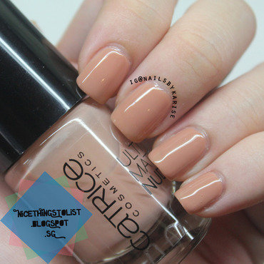 Catrice My Cafe Au Lait At Notre Dame Swatch by Karise Tan