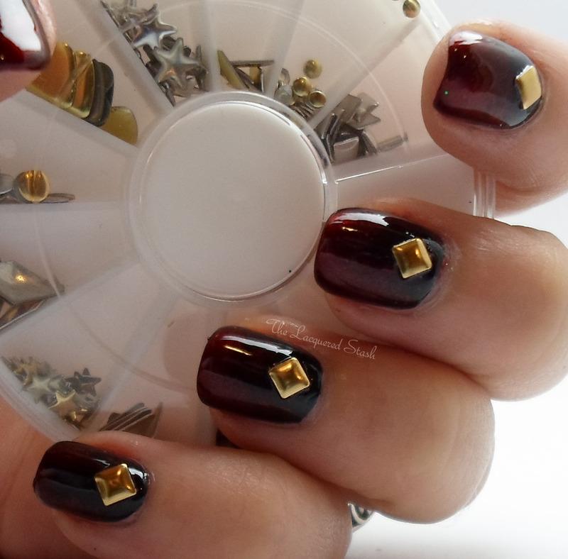 Vampy Gradient nail art by Emma N.