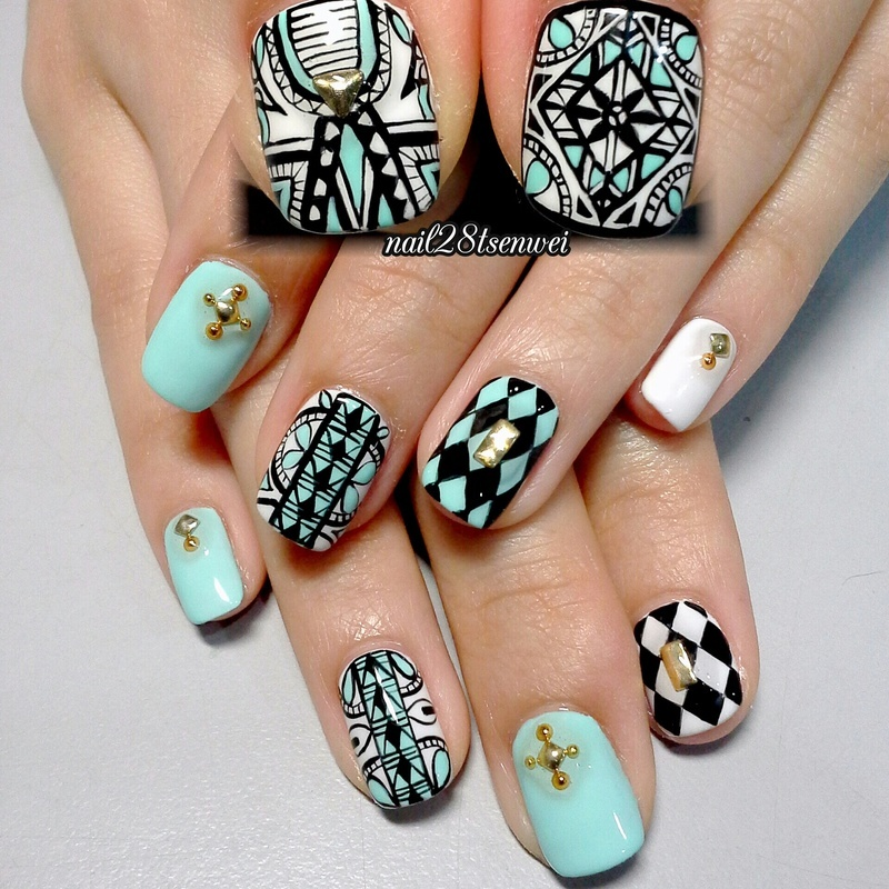 secret thing nail art by Weiwei