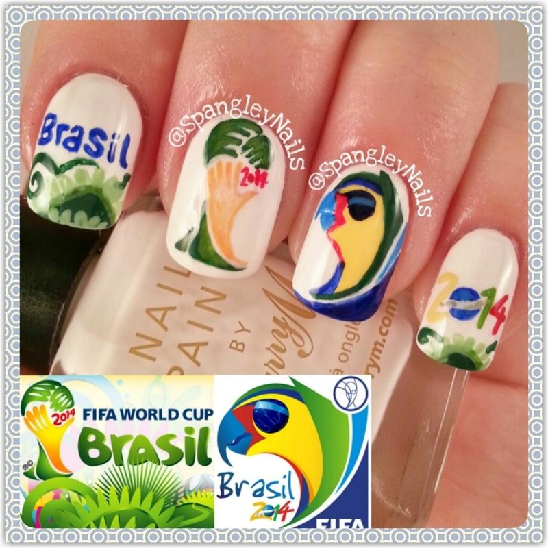 World Cup: Brasil 2014 Nail Art nail art by Nicole Louise