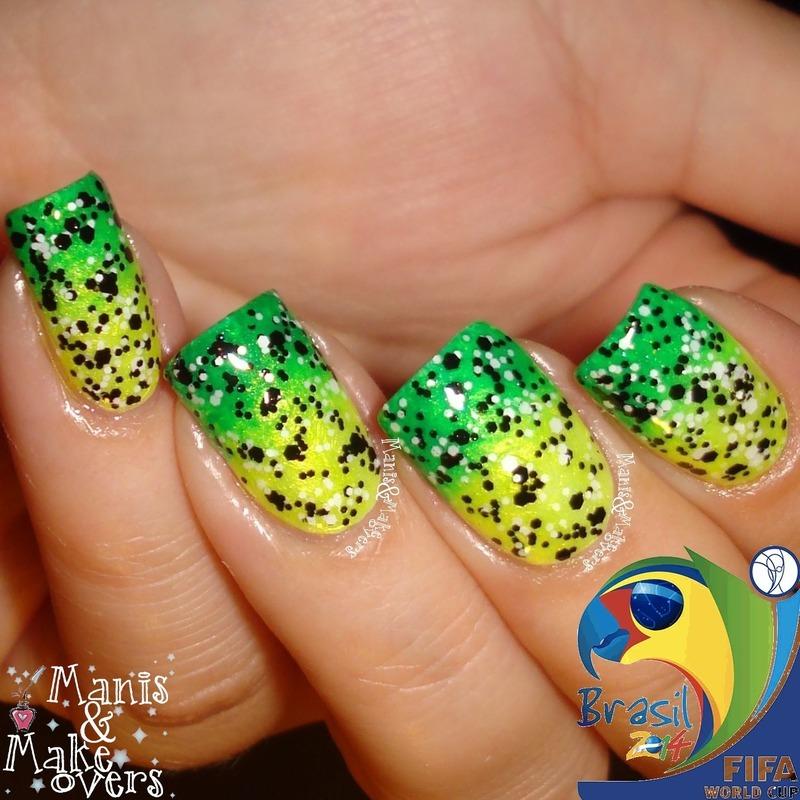 World Cup 2014: Brasil! nail art by Lothwen Akira