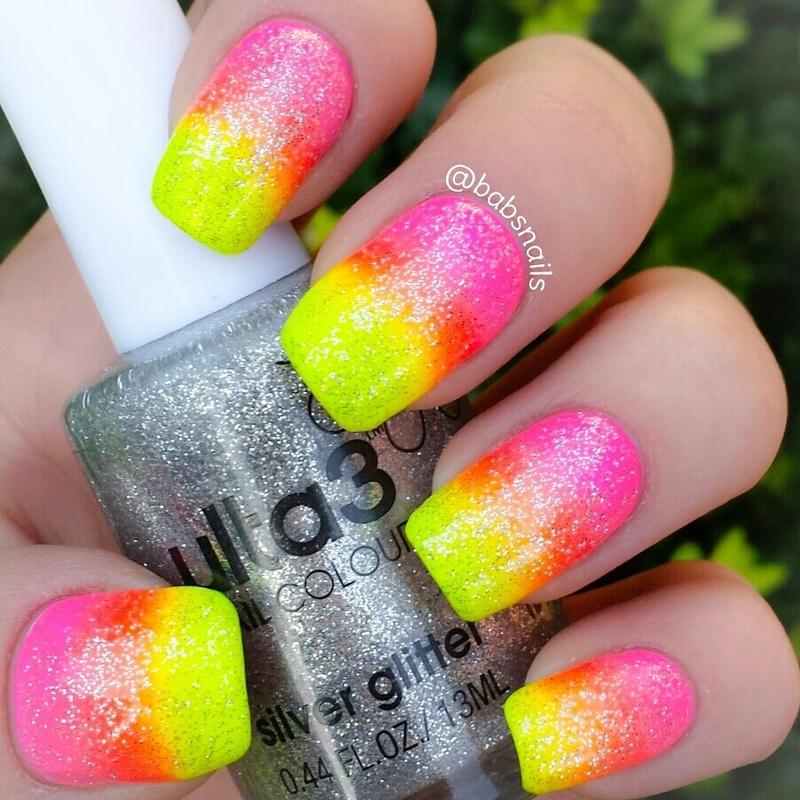 Neon Gradient nail art by Brooke (babs)