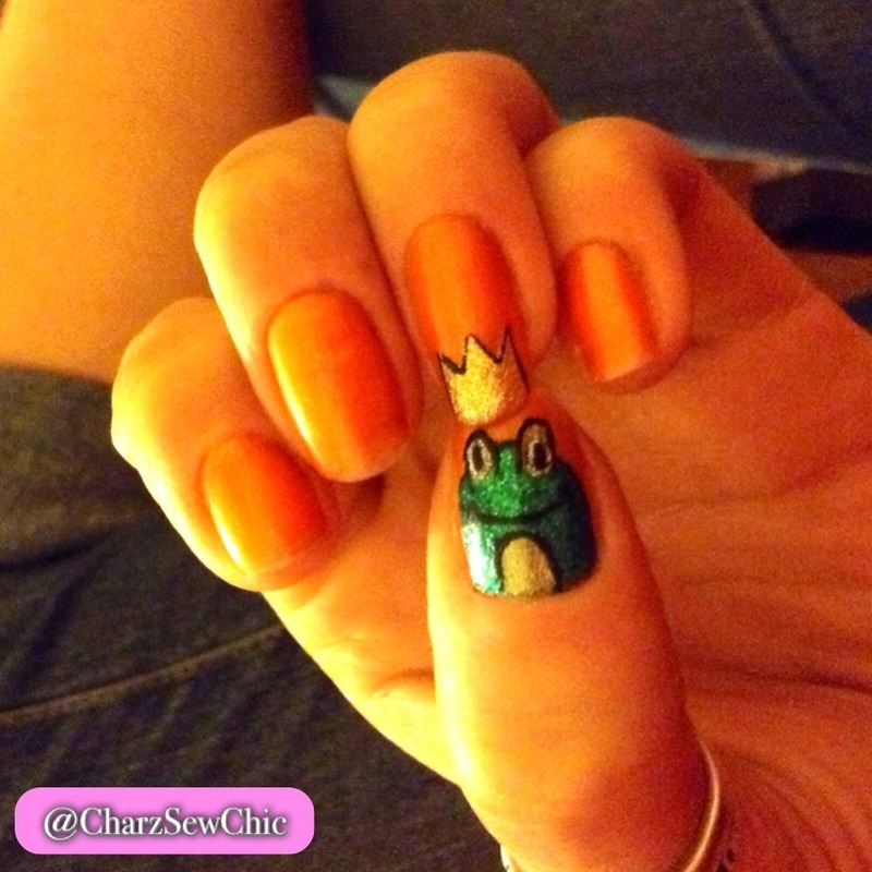 Príncipe Azule / Prince Charming nail art by Charlotte Speller