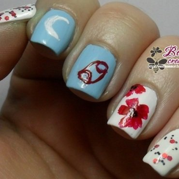 Zodiac - Cancer nail art by Isabella