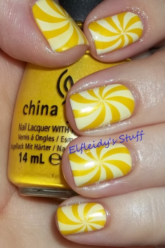 Swirly stamping nail art by Jenette Maitland-Tomblin