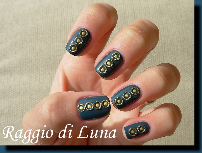 Mini open ring nail art decorations nail art by Tanja