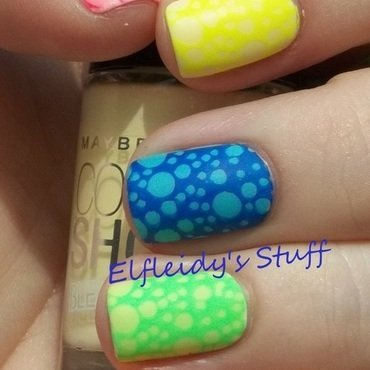 Neon bubbles! nail art by Jenette Maitland-Tomblin