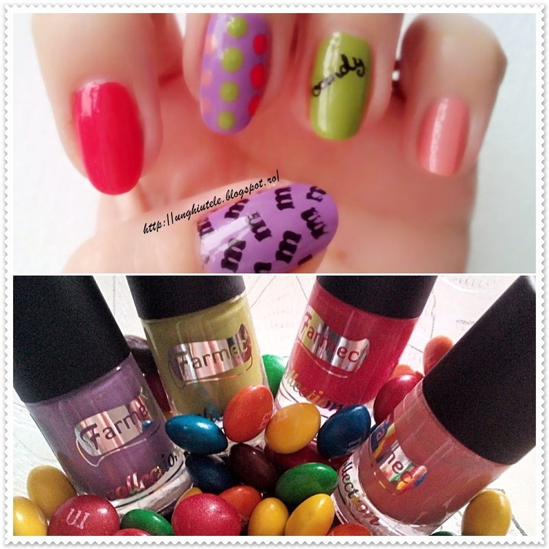 m&m nail art by Oana  Alexandru
