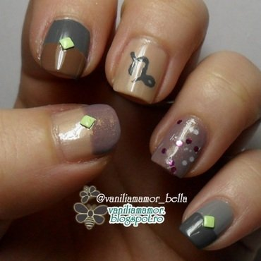 Zodiac - Capricorn nail art by Isabella