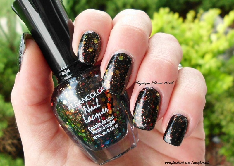 Kleancolor Chunky Holo Black Swatch by Angelique Adams