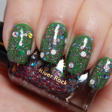 China Glaze Starboard and Nayll River Rock Swatch by Lacquer or Leave Her! Michelle Chouinard