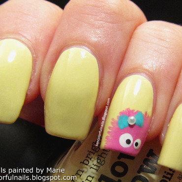 Girly Monster Nail Art nail art by Marie