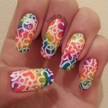 Hippy chic nail art by Danielle  Hails