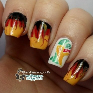 Go GERMANY!  nail art by Isabella