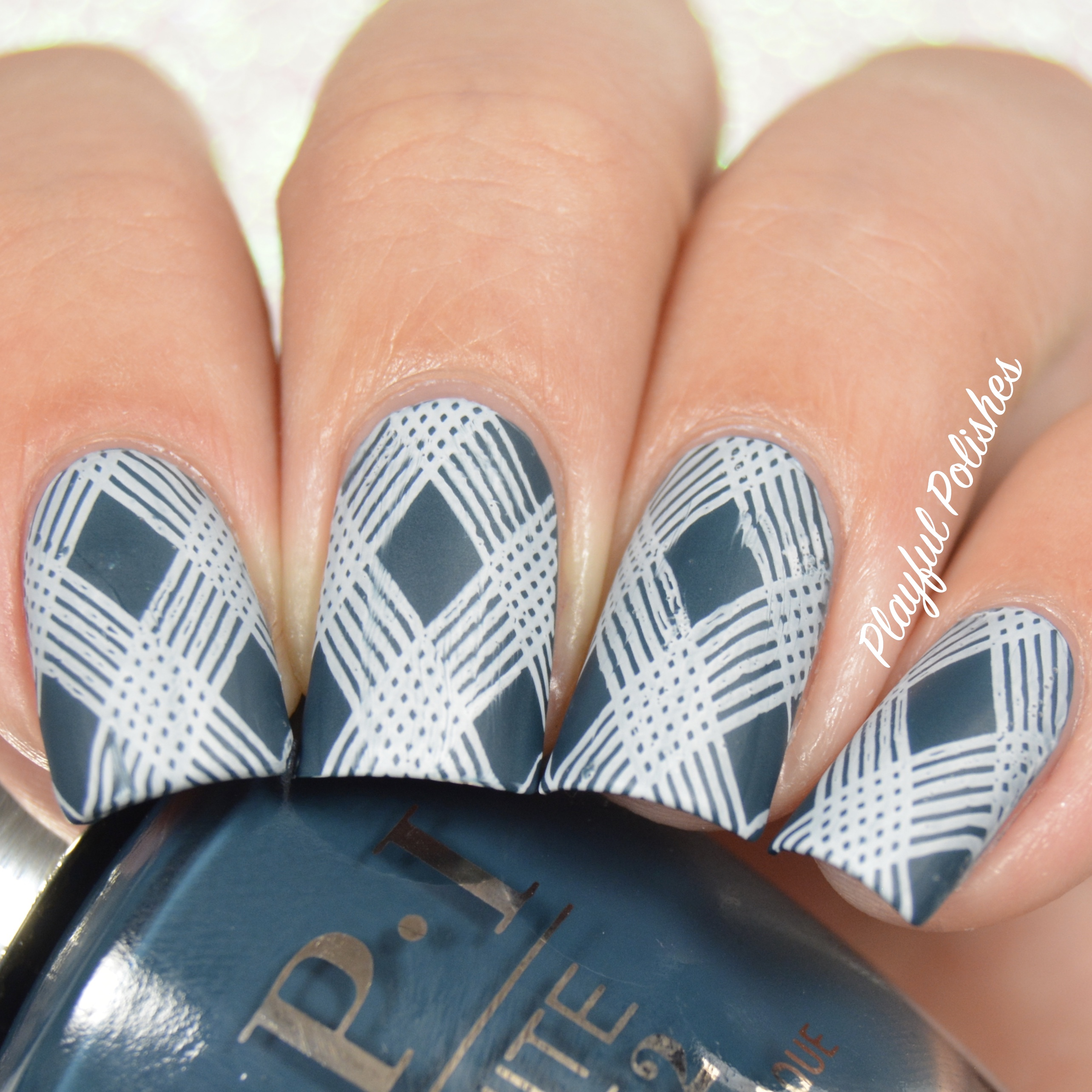 31DC2016 - Inspired by a Pattern nail art by Playful Polishes