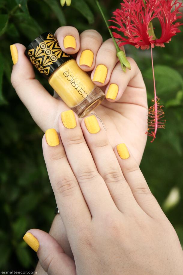 Esmalte catrice amarelo nail polish yellow cosmetic liquid sand c03 sunny side l afrique c est chique collection colecao esmalte e cor nails textura areia