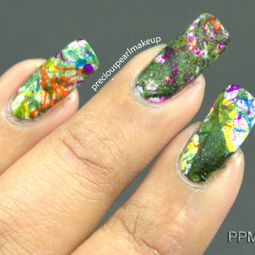 Camouflage Nails nail art by Pearl P.