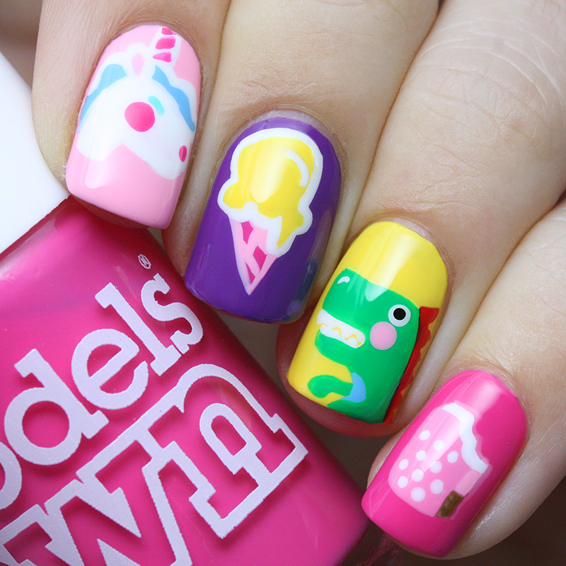 Let S Talk Nail Art: Easy Bright Summer Nails :) Nail Art By Let's Nail Moscow
