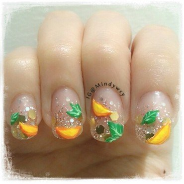 lemon frizz nail art by mindywong
