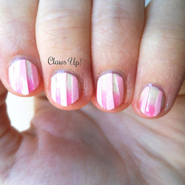 Pink Stripes nail art by Jacquie