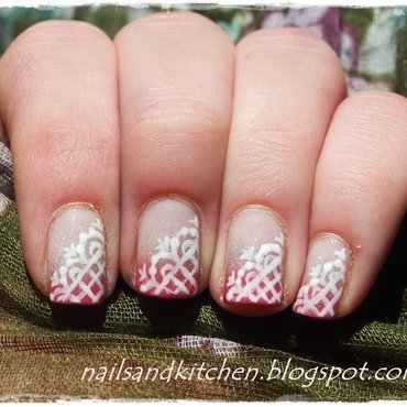 Lace nails nail art by Eliza