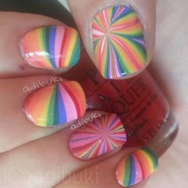 Rainbow Miracle nail art by Adi Buki