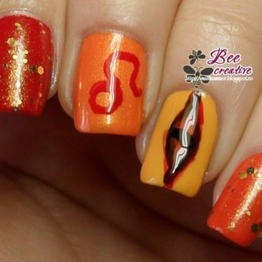 Zodiac - leo nail art by Isabella