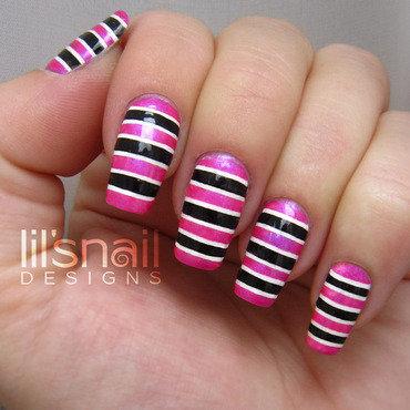 Insane Stripes nail art by Lily-Jane Verezen