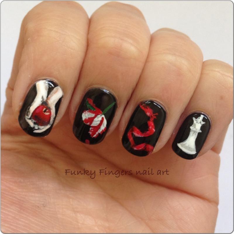 Twilight Nails Nail Art By Funky Fingers Nail Art Nailpolis