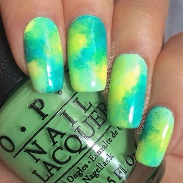 "Green Neon Galaxy nail art by Amanda ""Sparklicious Nails"""