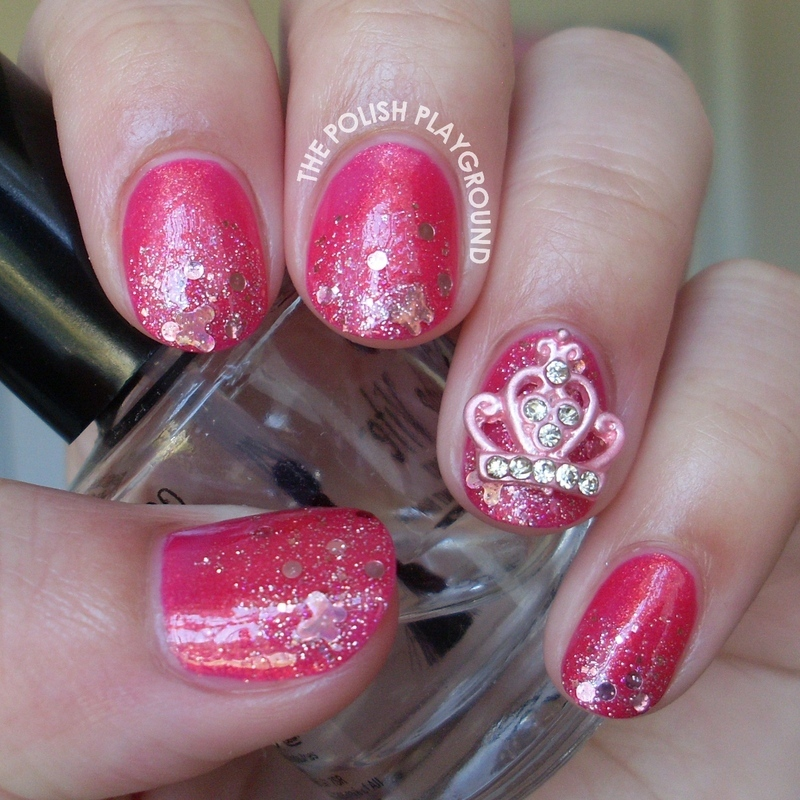 Pink Princess Nails nail art by Lisa N