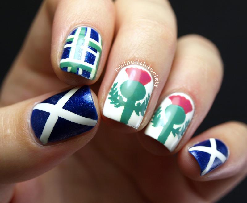 Scottish Festival Nails nail art by Emiline Harris