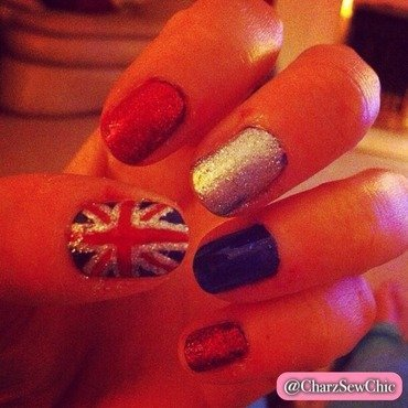 Great British nails! nail art by Charlotte Speller