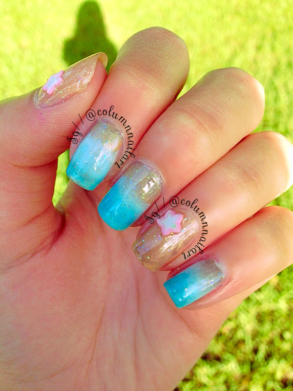 Beach Nail Art nail art by Carly Morgan
