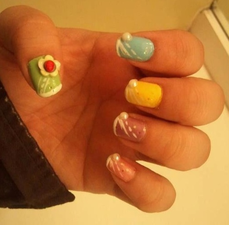 Fruit Cake Delight nail art by Tenticurl Creations