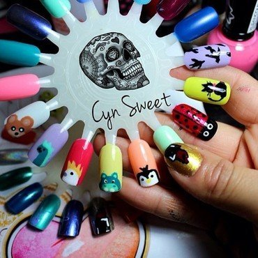 Animals Sweet nail art by CynSweet