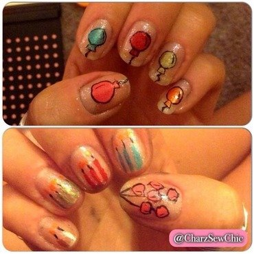 Birthday fun nail art by Charlotte Speller