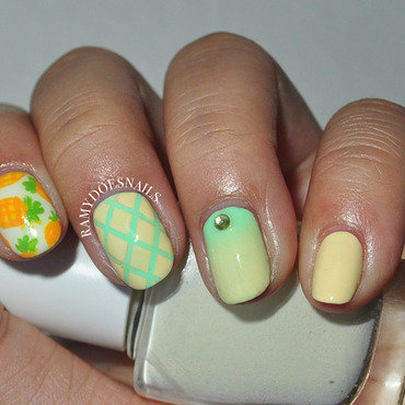 if you like pina coladas... nail art by Ramy Ang