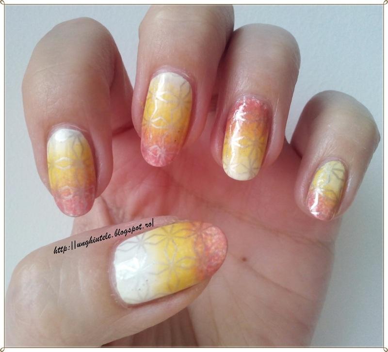 Gradient&Stamping nail art by Oana  Alexandru