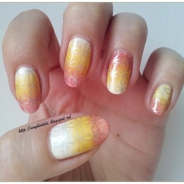 Gradient&Stamping nail art by Oana  Alexandru