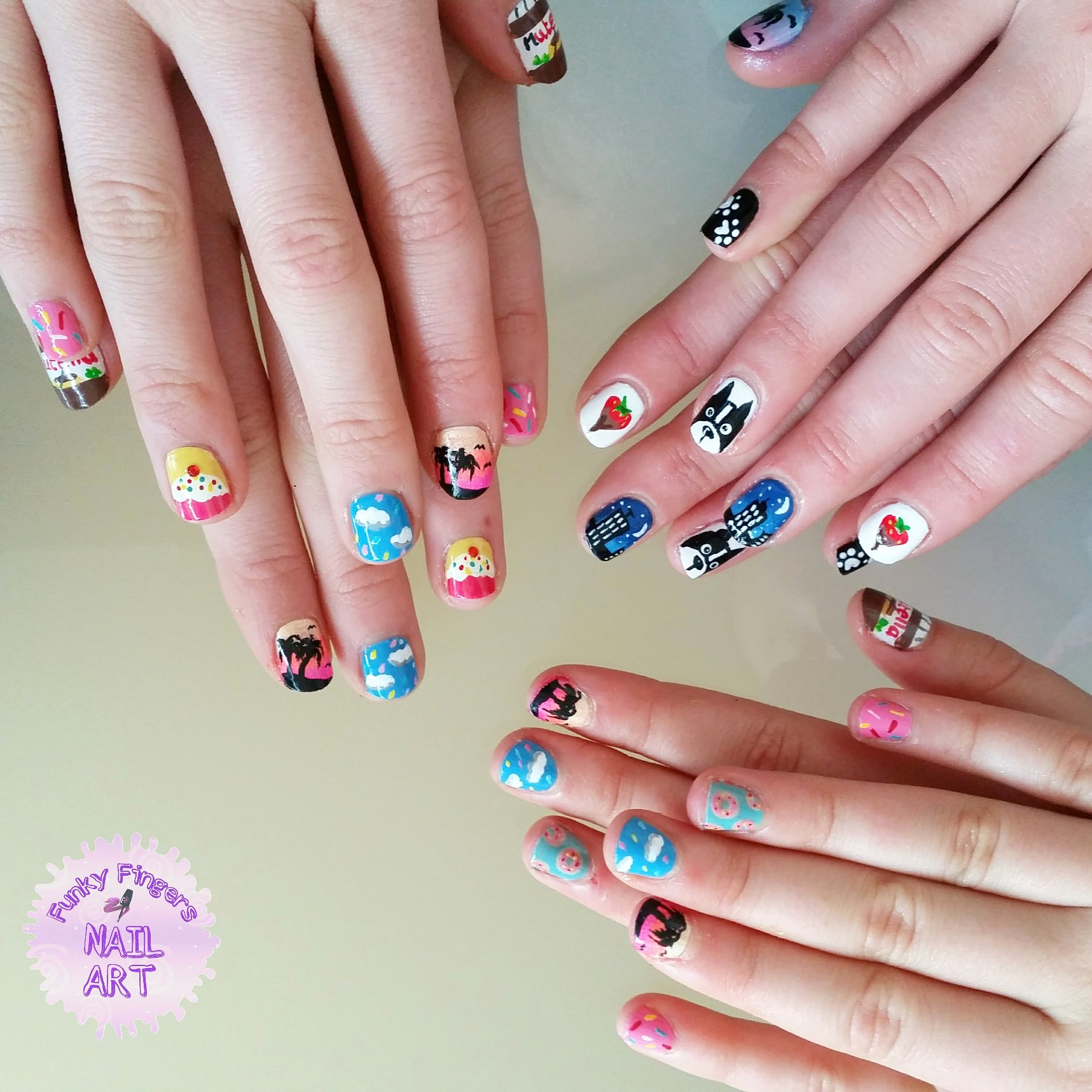 Party nails nail art by Funky fingers nail art