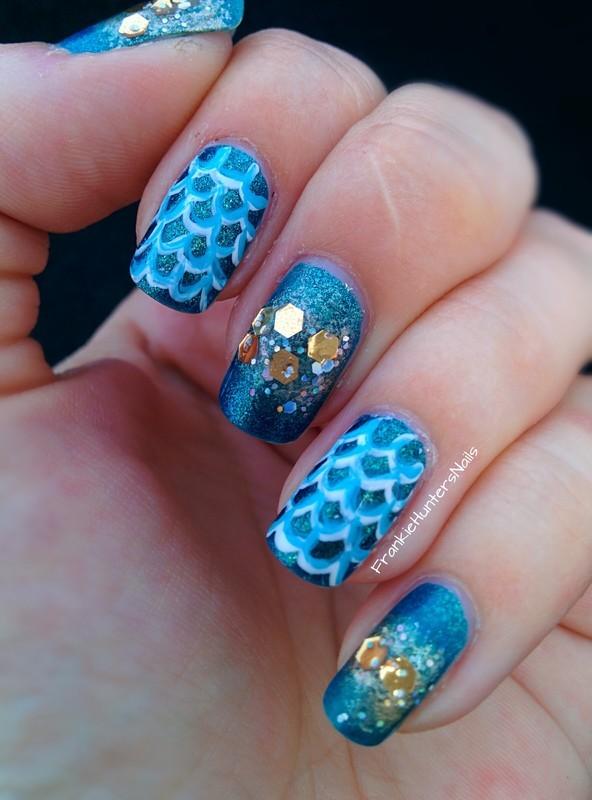 Mermaid Nails nail art by Franziska FrankieHuntersNails
