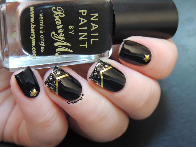 Rock'n'bling nail art by Marine Loves Polish