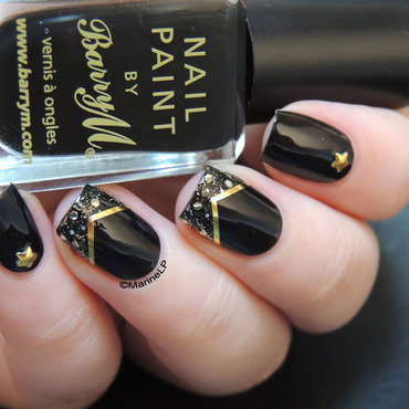 Rock'n'bling nail art by Marine Loves Polish