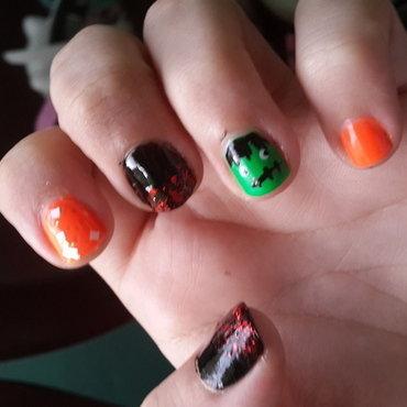 Halloween Nails nail art by Renataremedios