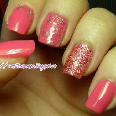 Pink elegance nail art by Isabella