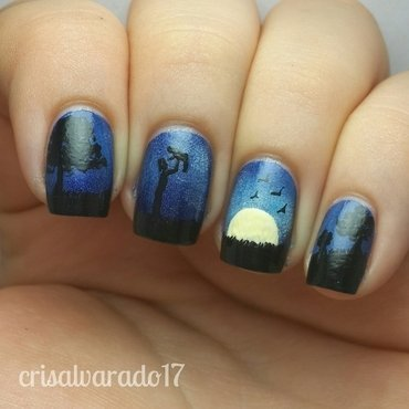 Father and child <3 nail art by Cristina Alvarado