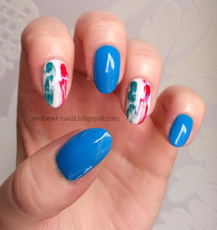 Forza Italia! nail art by Redhead Nails