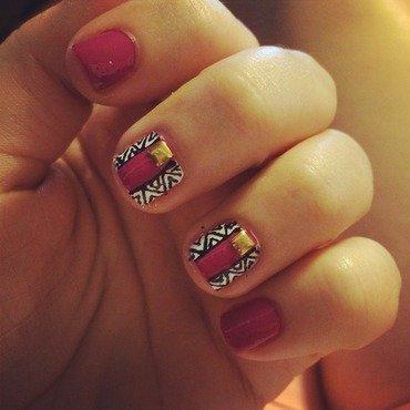 Zipping Love nail art by technicoloreyes92